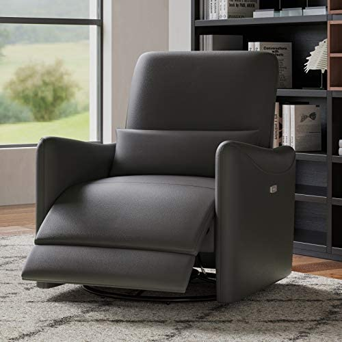 Deal of the week: CHITA Power Recliner Swivel Glider Upholstered Faux Leather Living Room Reclining Sofa Chair