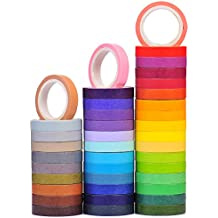 Washi Tape Set 40 Rolls, Decorative Masking DIY Tapes for Children and Gifts Warpping,Christmas & New Year