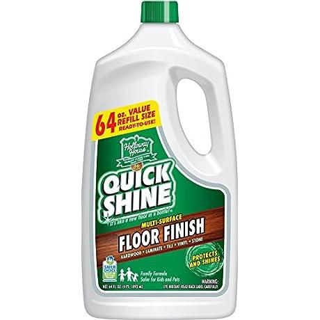 Quick Shine Multi Surface Floor Finish And Polish 64 Oz Refill Bottle