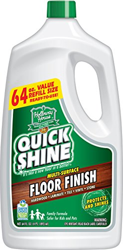 Floor Vinyl Wax - Quick Shine Multi-Surface Floor Finish and Polish, 64 oz. Refill Bottle