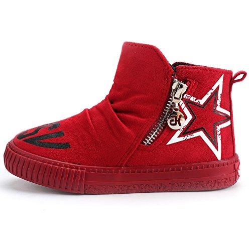 Invierno Niños Con Rojo infantil Star Para Hi Unisex Alexis Leroy De Zapatillas New Cremallera 0TvwxYqgnS