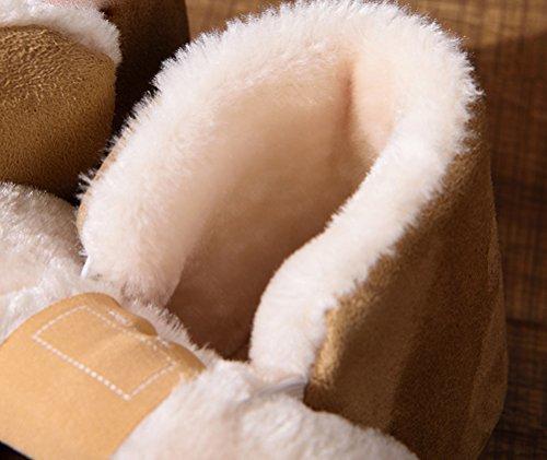 Auspicious beginning Women Winter Warm Anti-skid Snow Boots Plush Fleece Breathable Shoes Coffee PEjZkYNSs
