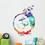 Wallmonkeys Watercolor Om Zen Wall Decal Peel and Stick Business Graphics (48 in H x 48 in W) WM366523