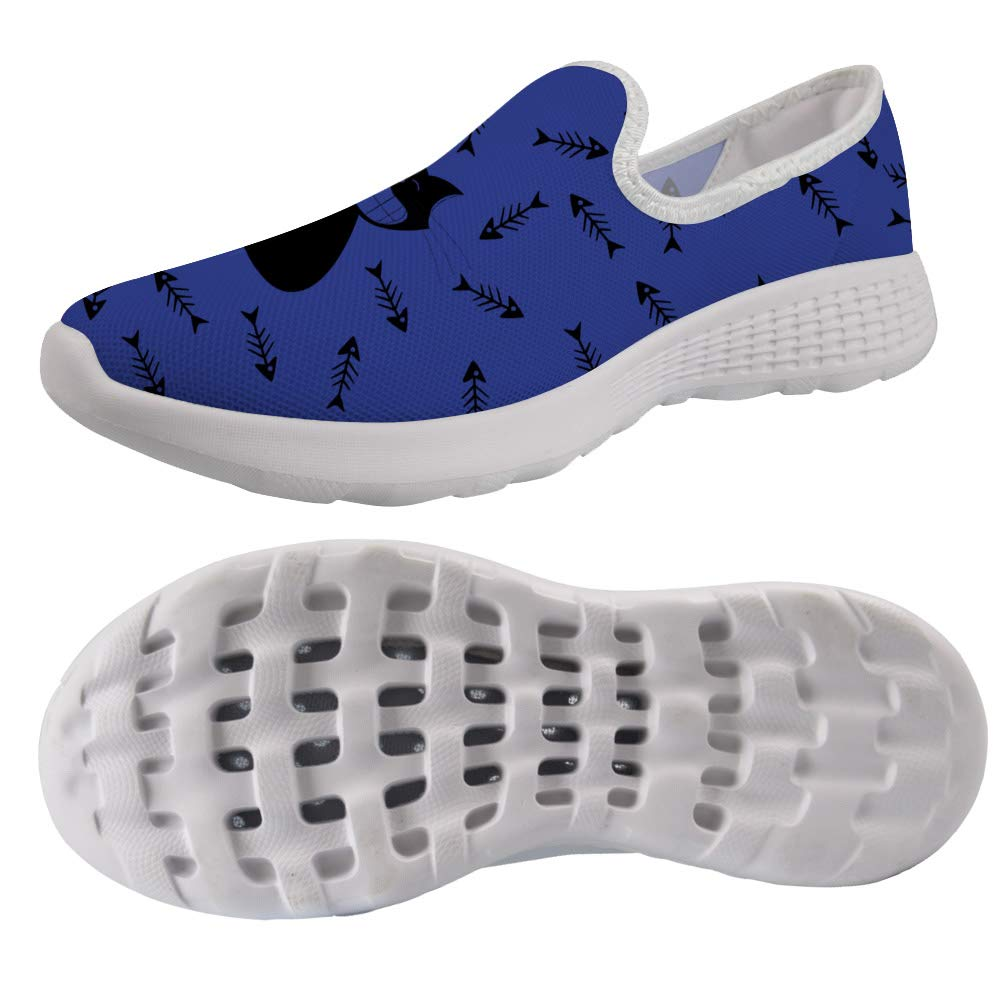 chaqlin Cute Cat Pattern Beach Water Shoes for Women Ladies Slip on Breathable Garden Shoes