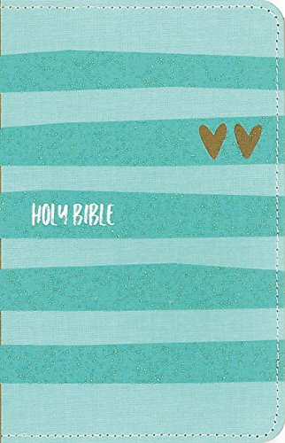 NIV Backpack Bible, Compact, Flexcover, Turquoise/Gold