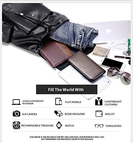 リュックサック メンズ レザー 大容量 防水 通学 通勤 旅行 ビジネス 多機能 14インチPC 人気 革 バックパック 黒 スクエア