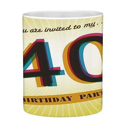 Amazoncom Funny Coffee Mug With Quote 40th Birthday