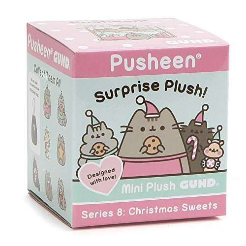 """GUND 4061025 Pusheen Cat Holiday Surprise Stuffed Animal Plush Blind Box Series #8: Christmas Sweets, Multicolor, 2.75"""""""