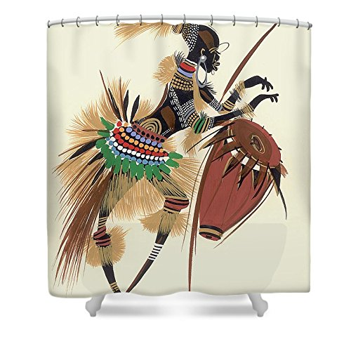 12 Drummers Drumming Costume (Pixels Shower Curtain (74