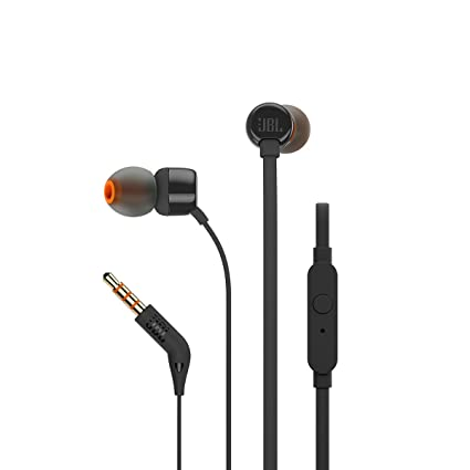 b36ecca6053 JBL T160 in-Ear Headphones with Mic (Black): Buy JBL T160 in-Ear ...