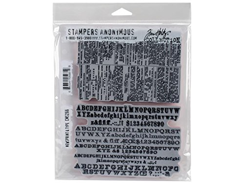 Cling Type - Stampers Anonymous Dritz Notions SPATHCMS.266 StampersA Cling Stamp Newsprint & Type