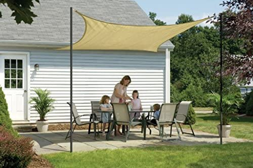 ShelterLogic Sand Shade Cover Sail, Square