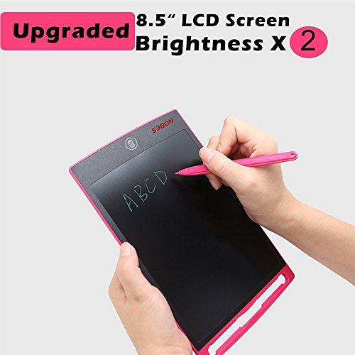 Nobes Newest LCD Writing Tablet 8.5 inch (Upgrade Brightness), Electronic Writing Doodle Pad Digital Drawing Board eWriter, As Office Whiteboard Bulletin Board Memo Notice and Gifts for Kids (Pink) by NOBES (Image #3)