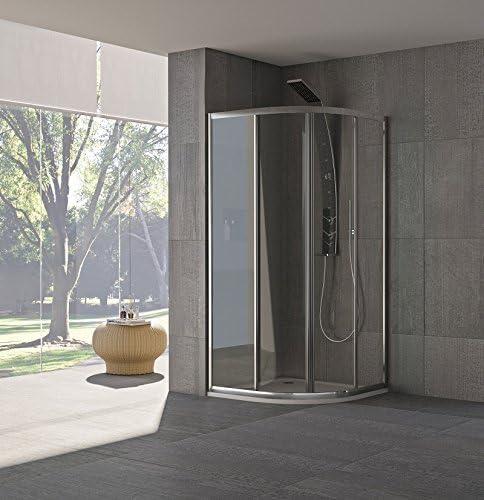 Mampara de ducha inoxidable 185 x 75 x 75 cm, acrílico modelo Claudia Compribene plateado: Amazon.es: Bricolaje y herramientas