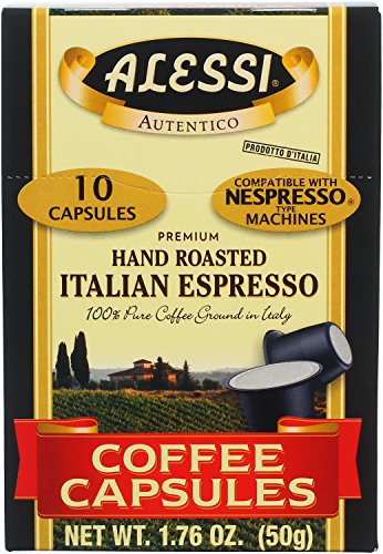 Alessi Imported Italian Espresso Pods, 10 Count (Pack of 12)