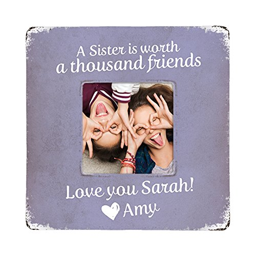 Amazon.com: Personalized Gift for Sisters, Rustic Picture Frame ...