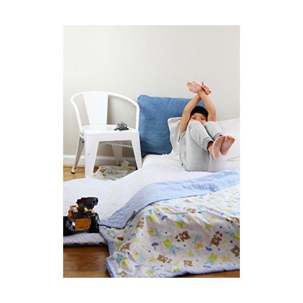 Cotton Flower Baby & Toddler Blanket, 7-layer Muslin + Woven Cotton, (Little Pals)
