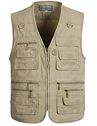 Idopy Men`s Multi Pocket Sports Travels Outdoor Vest