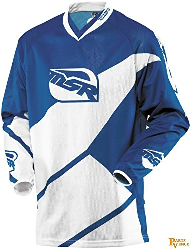 MSR Racing Max Air Split Men's MX Motorcycle Jersey - Blue/White / X-Large ()