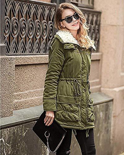 produit à cordon chaud mode revers classics femmes Manteaux vestes Marineblau femmes avec poches plus vestes d'hiver épaissir longues d'hiver manches élégant 8t4Xa