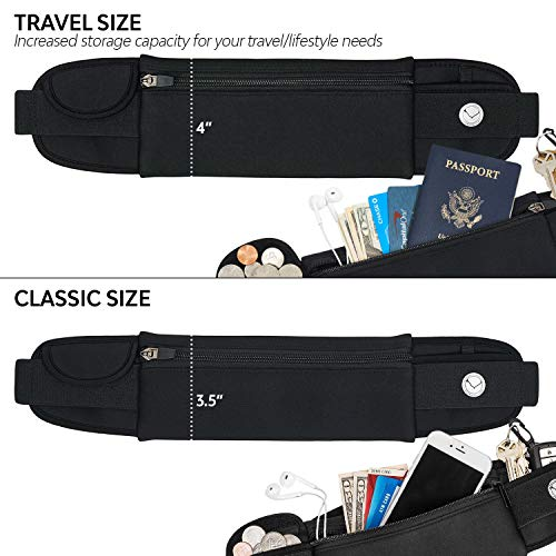 Orion Running Belt - Hands-Free Way to Carry Your Phone, Money, Keys While Hiking, Running, Walking, Parenting - Adjustable Water Resistant Fanny Pack for Amusement Parks, Travel by Mind and Body Experts (Image #3)
