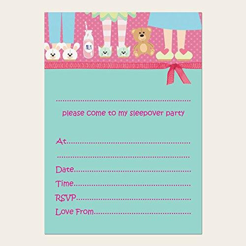Tarjetas de invitación para fiestas para niños pijamada ...