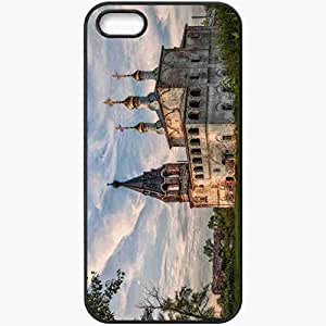 Protective Case Back Cover For iPhone 5 5S Case Murom District Village Borisogleb Cathedral Of Christ The Savior Black