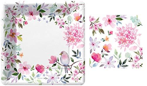 Garden Bloom Large Plates and Napkins Set by Design Design from Design Design