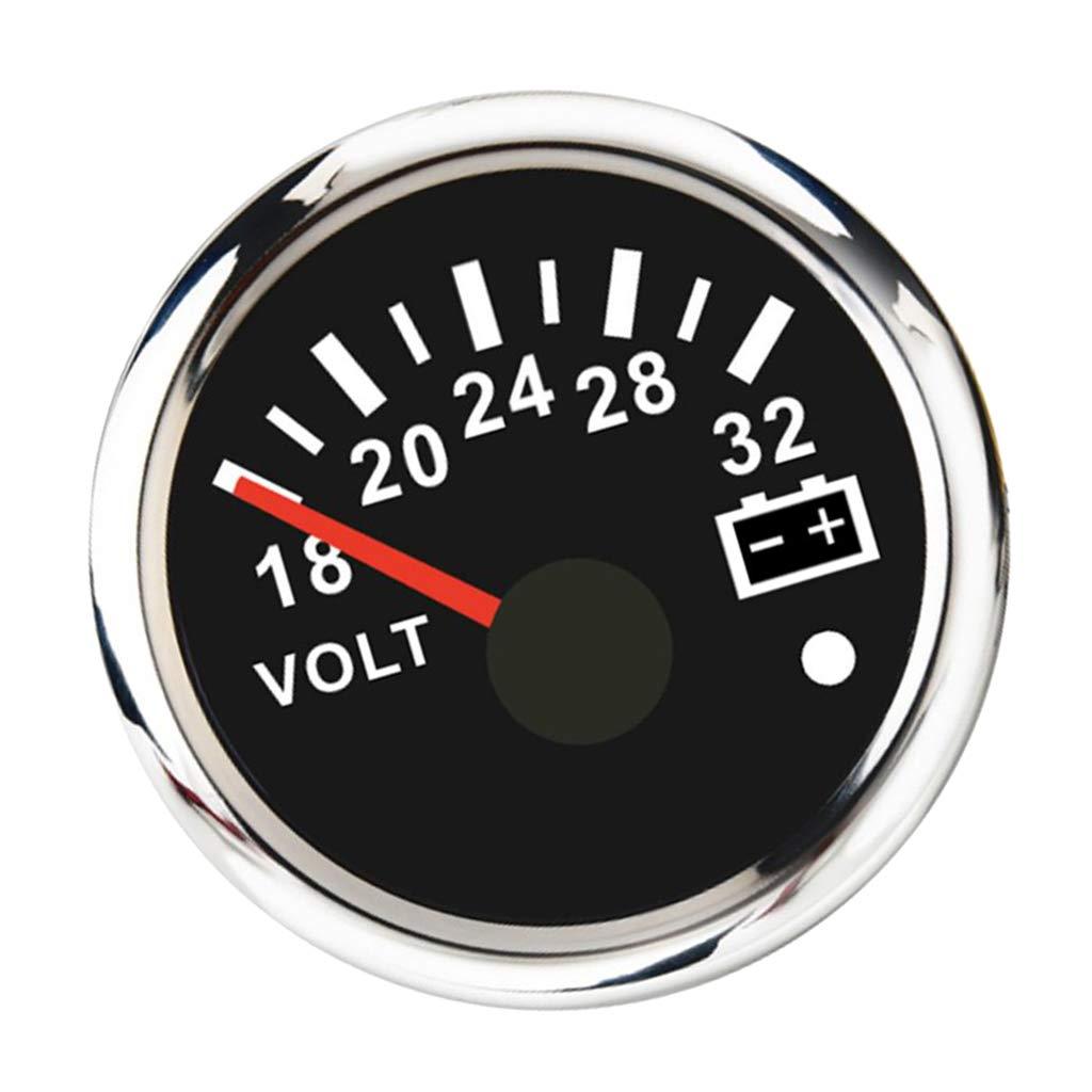 V/éhicules /électriques Gazechimp Tension de LED Compteur Manom/ètre Voltm/ètre pour Auto Voiture Bateaux /à Moteur 18-32V 52mm