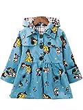 Mallimoda Girl's Hooded Trench Coat Jacket Dress...