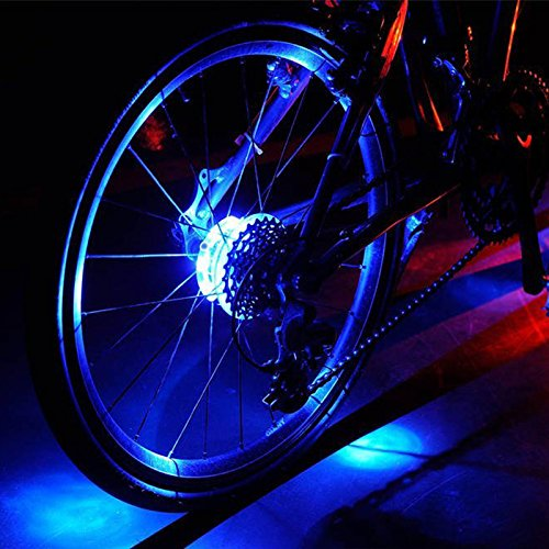 Amazon.com: Colorful LED Bike Wheel Lights, Bicycle Spokes and Rims Safety Warning Light. Colorful Cycling Tire Accessories, Headlight or Tail light.