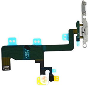 Johncase New OEM Power Button On/Off Switch Flash Light Mic Flex Cable W/Brackets Pre-Installed Replacment Parts Compatible for iPhone 6 (All Carriers)