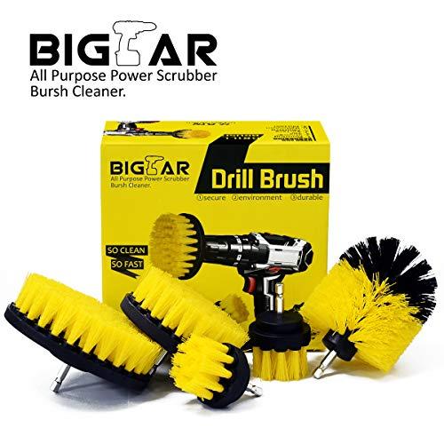 Cheap  Bigear Drill Brush Attachment Kit - Stiff Medium Soft Nylon Bristle -..