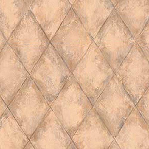 Dollhouse Wallpaper Tuscan Tile Diamond Blue