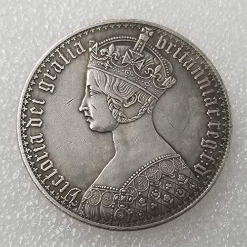 (GreatSSCoin Antique United Kingdom Old Coins - British Old Coin-UK Coin - UK Uncirculated Queen Victoria Commemorative Coins-Great Discover History of Coins Great Uncirculated Coin)