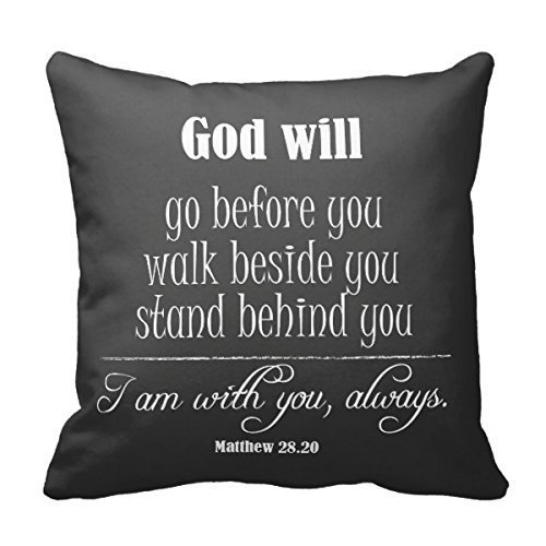 Inspirational God Quote; Go, Walk And Stand Pillow Cases Personalized 18x18 Inch Square Cotton Throw Pillow Case Case Decor Cushion Covers
