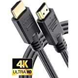 PowerBear 4K HDMI Cable 10 ft | Braided Nylon & Gold Connectors