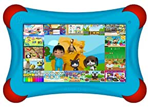"Visual Land Prestige PRO 7D FamTab - 7"" Dual Core 8GB Family Tablet with Google Play and Safety Bumper (Blue)"