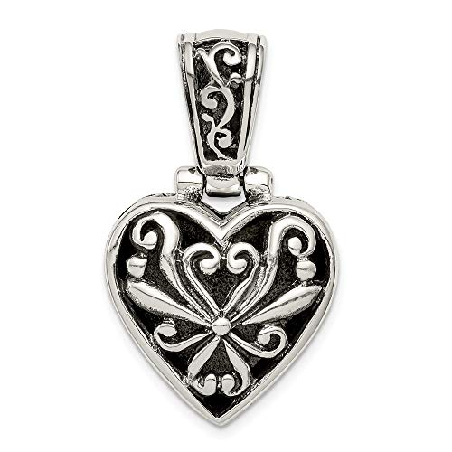 Mia Diamonds 925 Sterling Silver Reversible Mother Of Pearl Heart Pendant