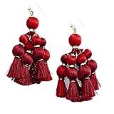 Kate Spade New York Women's Pretty Poms Tassel Statement Earrings, Sumac Red