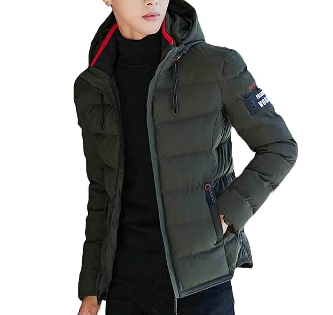 XQS Mens Winter Hooded Packable Ultra Light Down Puffer Jacket Coat Outdoor Quilted Parka
