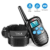 instecho Dog Training Collar, 100% Rainproof Rechargeable Electronic Remote Dog Shock Collar 332 Yards with Beep/Vibrating/Shock Electric E-Collar