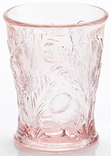 (Tumbler - Inverted Thistle - Mosser Glass - USA (Rose)