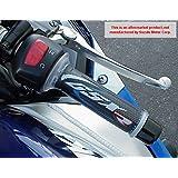i5 Suzuki GSXR600 GSXR750 GSXR1000 GSXR 600 750 1000 BLUE/CARBON GEL LOGO HAND GRIPS