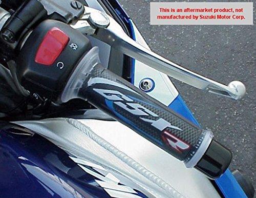 (i5 Suzuki GSX250 GSX250R GSXR600 GSXR750 GSXR1000 GSX 250 250R GSXR 600 750 1000 BLUE/CARBON GEL LOGO HAND GRIPS)