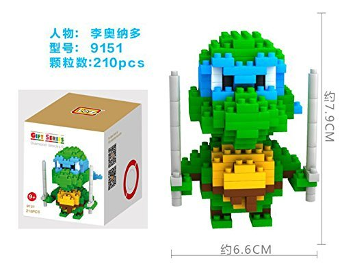 Amazon.com: loz Nano Ninja Turtles Edificio Bricks # Azul ...