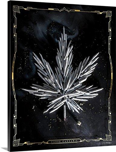 J.J. Brando Premium Thick-Wrap Canvas Wall Art Print entitled Carpe Cannabis
