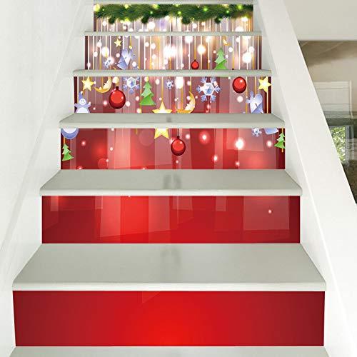 Doreleven Pegatinas De Escaleras Decoración De Navidad ...