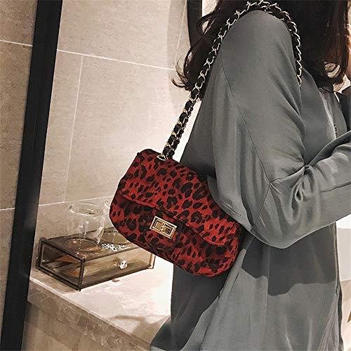 À Messenger Femmes Main nbsp; Qualité Pu En Nouvelle Ladies Bandoulière Cuir Leopard Rouge Bag Designer De nbsp;brown Sac Mode Fufufuchen Haute Pour F5Tq44