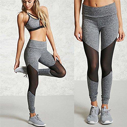 Xuanytp Pantalon de yoga Femmes Sporting Leggings Noir Impression D'Entraînement Fitness Legging Pantalon Mince Jeggings Mèche Force Exercice Vêtements